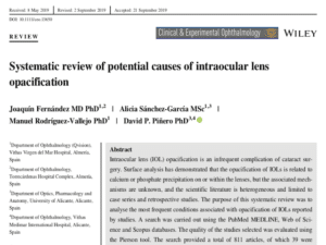 Clinica Qvision Academy Systematic review of potential causes of intraocular lens opacification