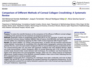 Clinica Qvision Academy Comparison of Different Methods of Corneal Collagen Crosslinking A Systematic Review